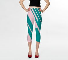 "Capris ""Jagged Edges"" by Bunhugger Design"