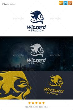 Wizard Logo — Photoshop PSD #wizard #fans club • Available here → https://graphicriver.net/item/wizard-logo/11171135?ref=pxcr