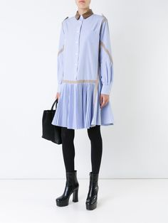 All day dresses. Never be stuck without something to wear with our collection of designer day dresses at Farfetch. Pleated Shirt, Shirt Dress, Fashion Outfits, Womens Fashion, Designing Women, Day Dresses, Blazer Jacket, Tunic Tops, Couture