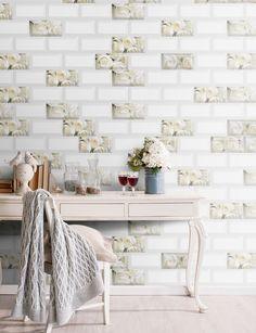 Small Tiles | METRO | Wall, 10x20 cm, Glossy #egeseramik #perfectbeauty  #ceramic  #tiles #design #homedesign #smalltiles Small Tiles, House Design, Wall, Beauty, Walls, Architecture Design, Beauty Illustration, House Plans, Home Design