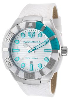 Unique Watch - Unique Price - Only $275 http://www.realwatches.com/collections/new-arrivals/products/technomarine-512003-men-s-black-reef-white-nylon-white-dial
