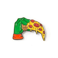 Or, you know, people who just like pizza. Pin And Patches, Iron On Patches, Aztec Tattoo Designs, Cool Pins, Pin Badges, Nice Things, Pin Cushions, Lapel Pins, Pin Collection