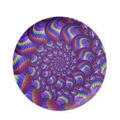 Purple and Blue Balls Fractal Pattern Dinner Plate $28.10