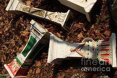 Jason Rosette - Shop - Pedestals for Buddhist or Animist Spirit Houses Lying among Dry   by Jason Rosette