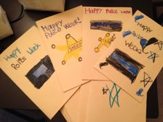 thank you cards by my Kindergarten class