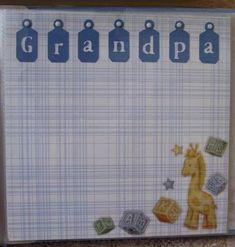 Baby Scrapbook- creative lettering technique