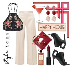 """Happy Hour"" by pixidreams ❤ liked on Polyvore featuring The Row, Alepel, Zimmermann, Rosanna, Oscar de la Renta, NARS Cosmetics and Serge Lutens"
