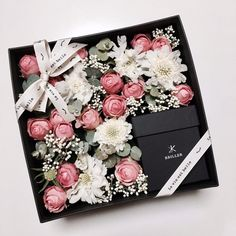 디퓨저를 담은 플라워박스 : 라비에벨 Flower Box Gift, Flower Boxes, How To Wrap Flowers, How To Preserve Flowers, Dried Flowers, Paper Flowers, Wedding Cards, Wedding Favors, Bouquet Box