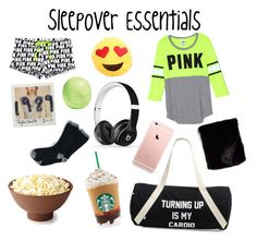 """""""Sleepover Essentials"""" by emmakfashion on Polyvore featuring O'Hanlon Mills, Eos, Beats by Dr. Dre, Private Party and Nordstrom"""