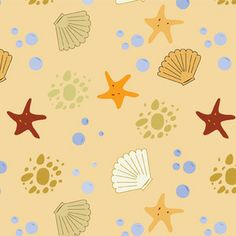 Insights Designs - Sea Breeze - Seashells ( Great fabric site! Has a nice color matching feature )
