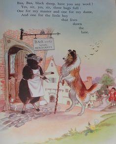 Hilda Boswell, Ba Ba Black Sheep Illustration