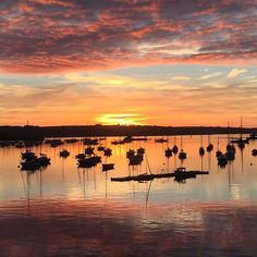 Beautiful summer sunrise over Falmouth Harbour, Cornwall