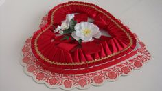Vintage Valentines Heart Shaped Candy Box