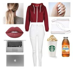 """Untitled #47"" by monalafea26 ❤ liked on Polyvore featuring Boohoo, Topshop, Converse and Lime Crime"