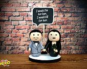 The Adams Family Cake Topper