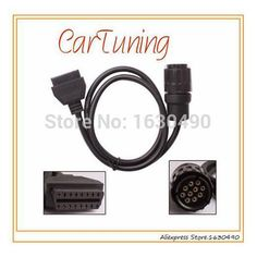 ICOM 10 Pin Connector OBD2 adapter cable for BMW : CarTuning ICOM 10 Pin Connector OBD2 adapter cable for BMWcar diagnostic connector 10Pin to 16Pin OBD2 Cable for BMW ICOM.  http://www.aliexpress.com/store/product/CarTuning-For-bmw-icom-a-b-c-diagnostic-cable-10-pin-cable-for-bmw-icom-interface/1630490_32305877799.html  . Description  for BMWcar 10PIN Cable for ICOM for Moto, ICOM 10PIN OBD Cable for BMWcar ICOM 10pin OBD adapter car icom 10pin 10Pin obd to obd2 adapter connector cable for…