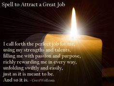 Attracting lucrative job opportunities is easy when you know how to harness your energy and intention and direct it toward the outcome you want. Before beginning the spell, take a few minutes to determine the exact outcome you desire. Hoodoo Spells, Magick Spells, Candle Spells, Good Luck Spells, Easy Spells, Truth Spell, Magic Spell Book, Spells For Beginners, Affirmations