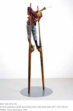 Artist: Yinka Shonibare, MBE: 'Boy on Stilts' 2006.