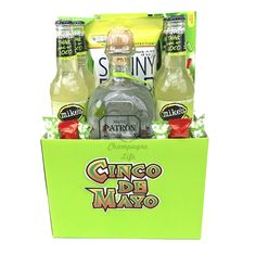 The Cinco De Mayo Tequila Gift Basket is available for same-day delivery in Las Vegas, NV. Everything you need for Patron Silver Margaritas! Design a Custom Cinco De Mayo Gift Basket today, call
