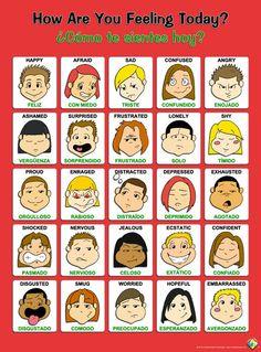 "Kindle Mental Publishing  - Toon Feelings Poster ""Bilingual"", $6.95 (http://stores.kindlemental.com/toon-feelings-poster-bilingual/)"