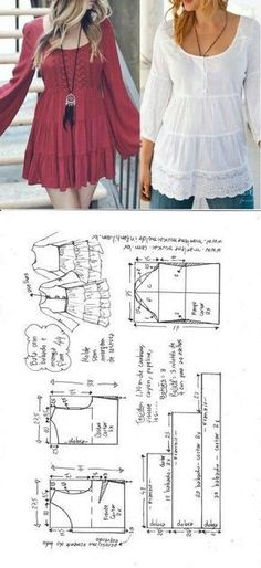 Amazing Sewing Patterns Clone Your Clothes Ideas. Enchanting Sewing Patterns Clone Your Clothes Ideas. Dress Sewing Patterns, Blouse Patterns, Clothing Patterns, Skirt Patterns, Sewing Clothes Women, Diy Clothing, Clothes For Women, Barbie Clothes, Fashion Sewing