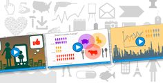 Creating animated infographics is easier than ever. Customize our templates or build new content from scratch using the Infographics graphical objects library