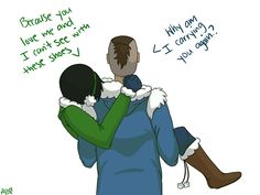 Toph and Sokka : I don't necessarily ship Tokka but I can still see this happening. They've got this adorable brother-sister-best-friend relationship that I absolutely adore.
