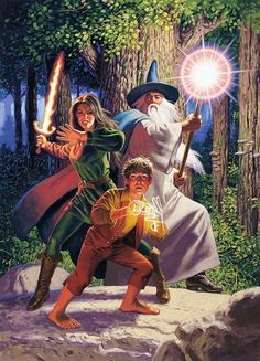 Hildebrandts Gandalf, Frodo and … mmmm Arwen?
