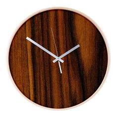 Dark wood Wooden Wall Clock