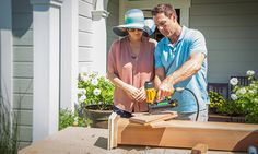 Home & Family - Tips & Products - Marks DIY Solar Lamp Post   Hallmark Channel
