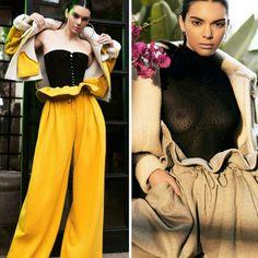 Duas lindas inspirações da Kendall Jenner para a promoção de sua coleção com a irmã, Kendall + Kylie Drop One.♥️ #beautiful #kendalljenner #fashion #inspirations #kendallkylie #collection