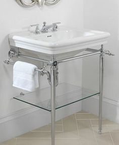 For En Suite Imperial Etoile Vergennes Basin Stand With Gl Shelf And Large