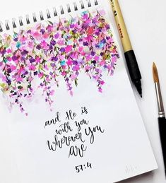 """""""and He is with you wherever you are"""" Quran Prima Watercolor, Watercolor Paintings, Quran Quotes Inspirational, Islamic Quotes, Motivational Quotes, Islamic Paintings, Shimmer Lights, Islamic Wall Art, Prima Marketing"""