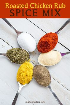 } - Six Clever Sisters , < Roasted Chicken Rub Spice Mix {bold, warm flavors!} - Six Clever Sisters. Grilled Chicken Rub, Roast Chicken Rub, Roasted Chicken, Grilling Chicken, Baked Chicken, Spatchcock Chicken, Chicken Dips, Chicken Meals, Chicken Fajitas