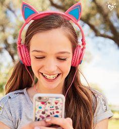 Listen up! These headphones light up! We're not even kitten!