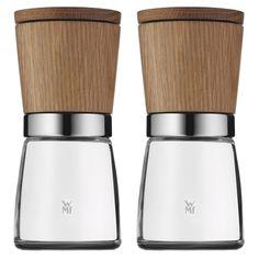 WMF 0652314500 Salz- und Pfeffermühlen-Set 2-teilig aus Holz: Amazon.de: Küche & Haushalt