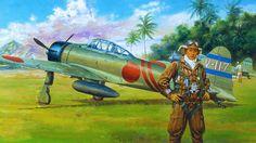 1942 02 Mitsubishi A6M2 Model 21 Reisen Zero - Masami Onishi Tainan Kokutai V-117 (Lt. Masuzo Seto), Bali, Lesser Sunda Island