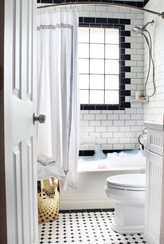 Bathroom Subway Tile Dark Grout pros & cons: dark grout in the bathroom | grout, subway tiles and