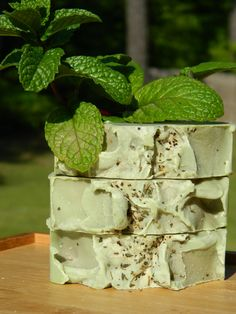 Soap Natural Palm Oil Free Vegan Soap Cucumber Mint by TikiBarSoap, $6.50