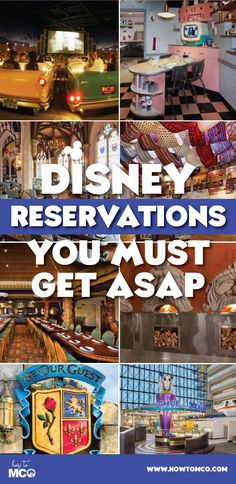 Ten Disney Advance Dining Reservations to get ASAP Dining reservations go fast at the Walt Disney World Resort. List of the top 10 reservations to get asap! For more Disney tips and tricks go to WALT WALT may refer to: Walt Disney World, Disney World Resorts, Best Disney World Restaurants, Disney World Tipps, Disney World Florida, Disney World Tips And Tricks, Disney World Vacation, Disney Tips, Disney Vacations