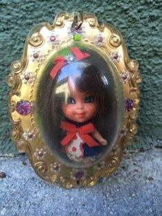 Liddle Kiddle Liz Locket in Original Locket Mattel Circa 1960's