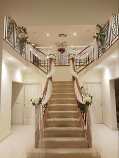 My reception venue features a huge staircasepossibility image result for tulle lights artificial wisteria for wedding altar junglespirit Choice Image
