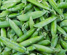 Fresh snap peas from Heck's Market (West Main St.)