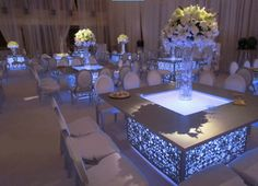 under table lights for wedding - Google Search