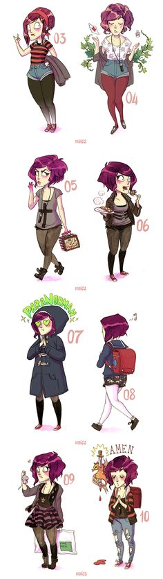 1 MONTH OUTFIT (what I wore for 31 days) by Alessandra MAiS2 Criseo, via Behance