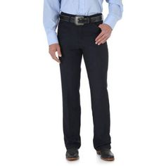 Wrangler Men's Wrancher Dress Jean, Size: 38 x 30, Blue