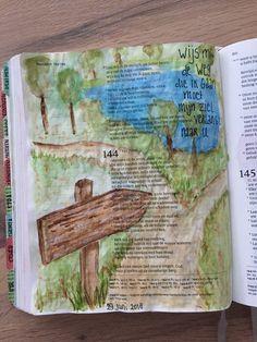 Psalm 143:8  #biblejournaling #bijbeljournaling #bijbeljournalinggroep #themessageofmercy #schrijfbijbel #windsorandnewton #micron