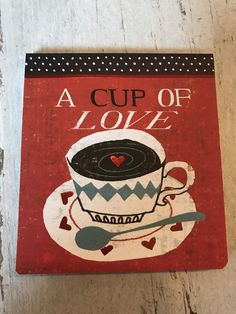 Mini Journal A cup of love