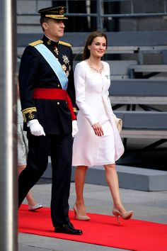 King Felipe VI of Spain and Queen Letizia of Spain, arrives to Congress for the crowing, 19.06.2014 ahead of a joint session of parliament