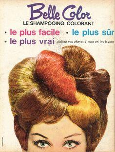 Belle Color, le shampooing colorant - Paris Match, 26 avril 1962
